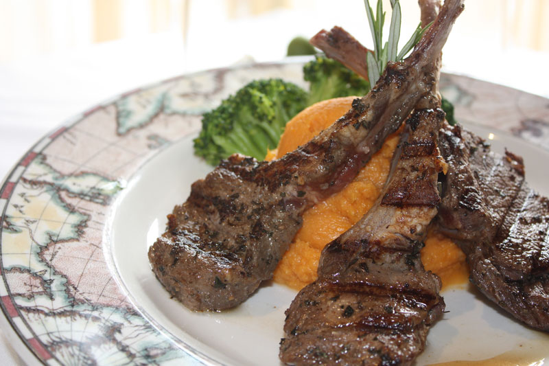 Honey Rosemary Lamb Chops